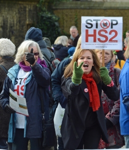 DG166268. Anti Hs2 demo. London. 25.11.13.