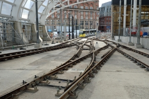 DG207992.New tram tracks. Manchester Victoria. 27.3.15