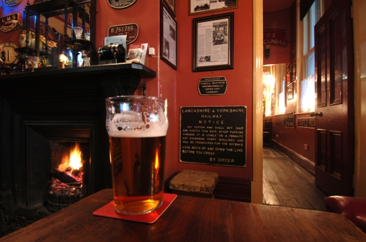 There's nothing better on a cold winter's day than a pint by a roaring fire as you're waiting for pie & peas..