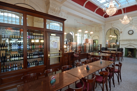 The gorgeous former First Class Dining Room has been reopened as the Tap extension, which housies the microbrewery.
