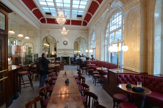 How's this for a stylish place to enjoy a beer whilst waiting for a train? The former First Class dining room.