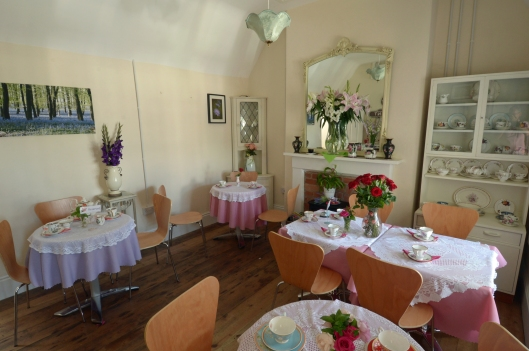 Inside the tea room at Ridgmont