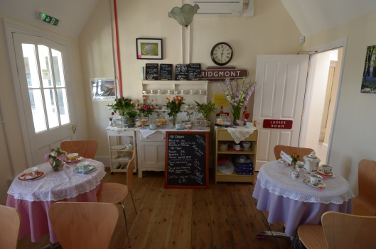 Another view of the tea room - and some of the delicious cakes baked by volunteers...