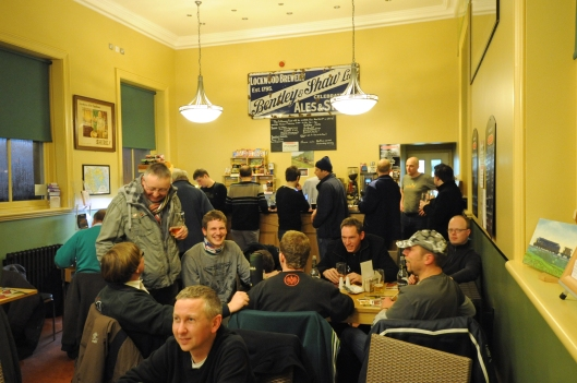 A busy weekend inside the Jubilee refreshment rooms