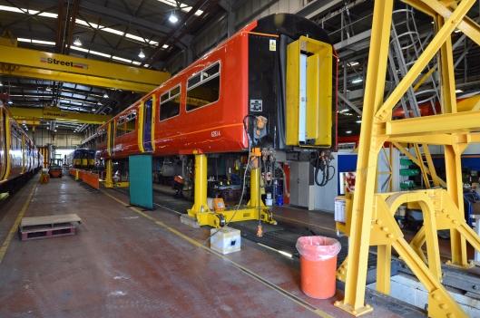 DG184054. First AC Class 455 conversion.  Wimbledon Park depot. 30.6.14.