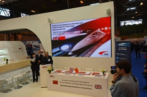 DG213298. China - UK rail research co-operation agreement. Railtex 2015. 12.5.15.