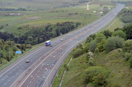The M62 at Scammonden looking East this evening