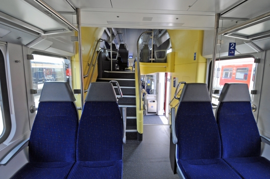 DG124472. Interior. DPZ push-pull set. Innotrans 2012. Berlin. Germany. 19.9.12