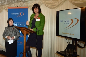 DG233185. Claire Perry MP. Rail Forum East Midlands. London. 2.11.15.