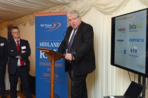 DG233256. Patrick McLoughlin MP. Rail Forum East Midlands. London. 2.11.15.