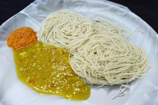 DG237247. String Hoppers with dahl and chutney.  Colombo. Sri Lanka. 11.1.16..JPG