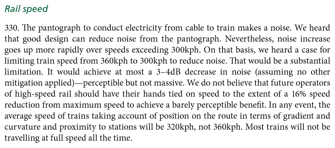 Rail speed