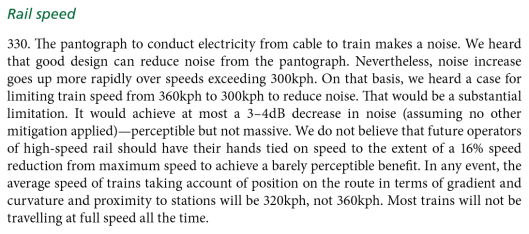 Rail speed
