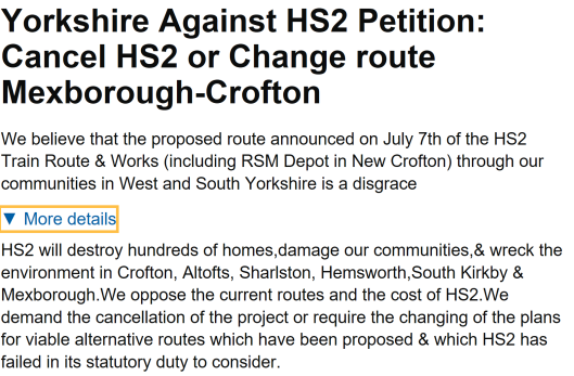 mexborough-hs2-petition