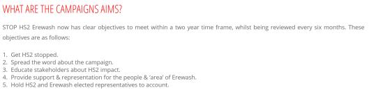 Erewash. objectives