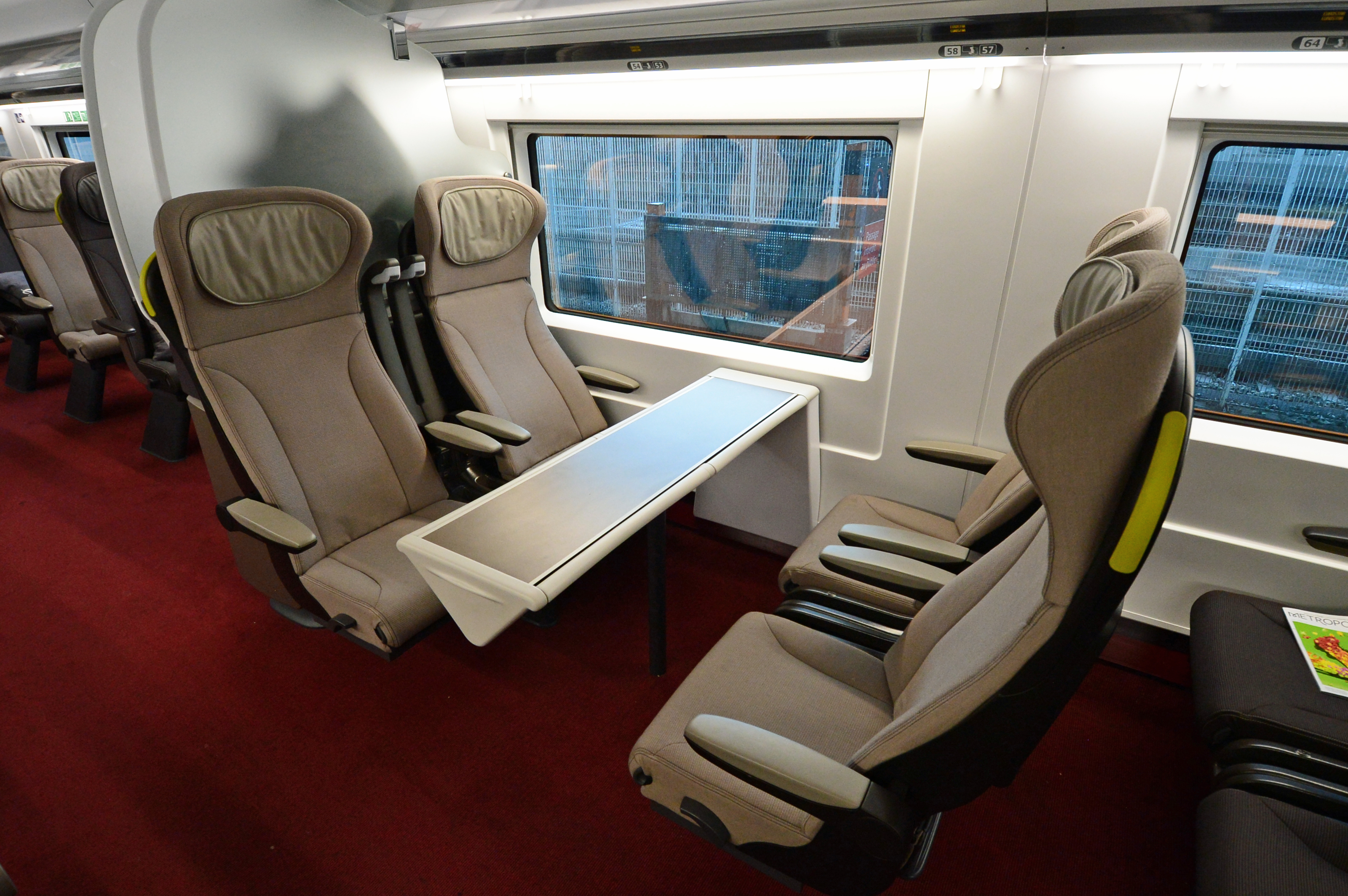 DG247036. Eurostar e320. Interior coach No1 (end car) 14.6.16