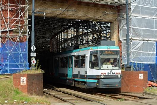 DG157861. Tram 1013. Manchester Victoria. 30.8.13.
