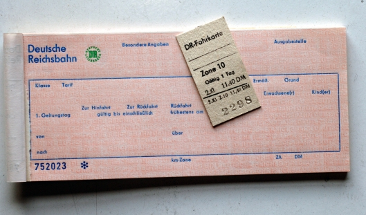 FDG05264. Rodelblitz old DR tickets. Germany. 11.2.07