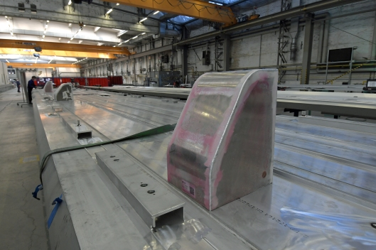 DG295033. Assembling Class 717 bodyshells. Krefield. Germany. 2.5.18