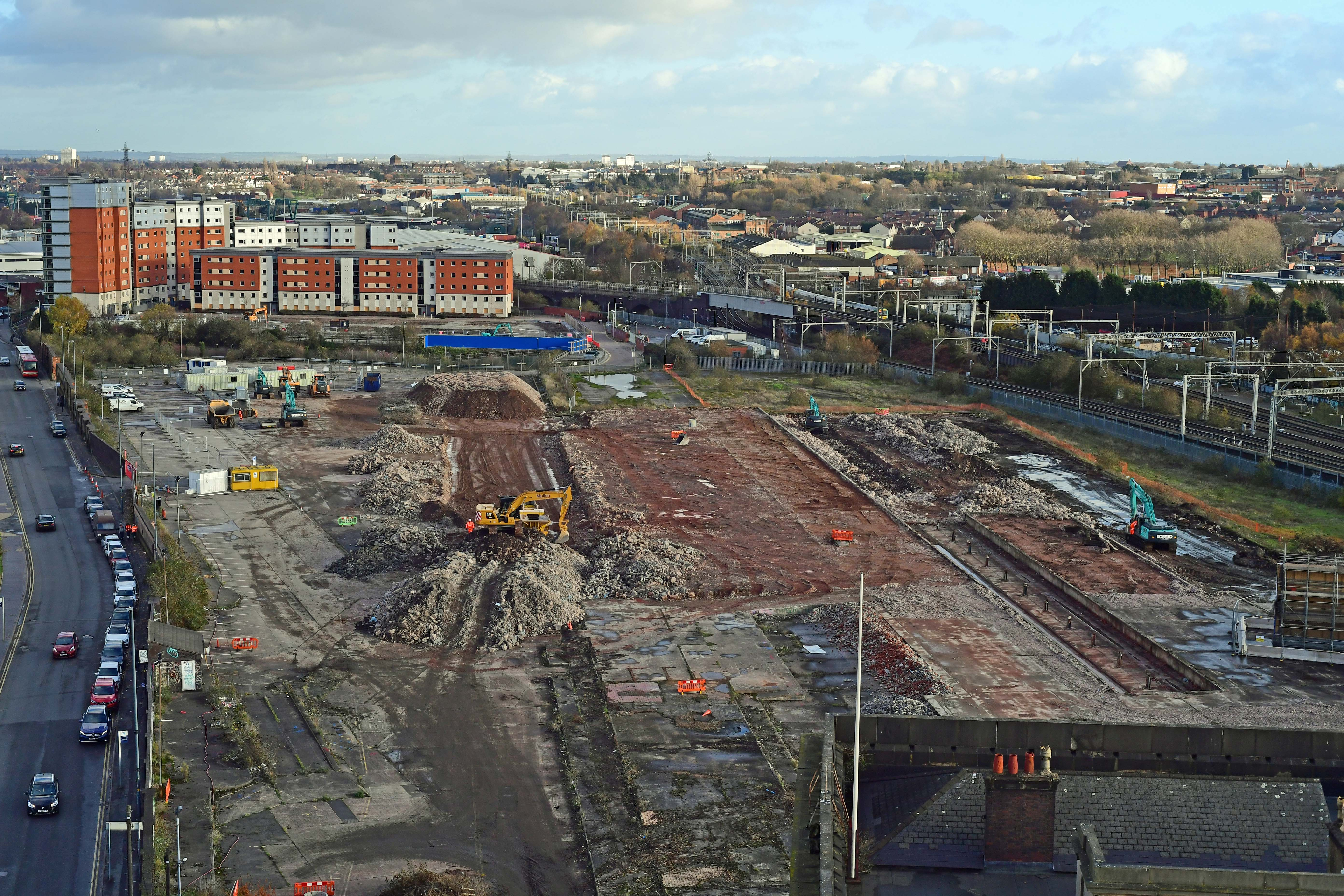 DG314118. Curzon St Hs2 station site. Birmingham. 30.11.18crop