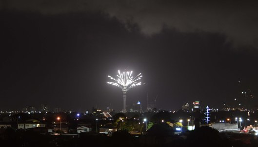 DG315372. New Year fireworks. New Zealand. 01.01.19crop