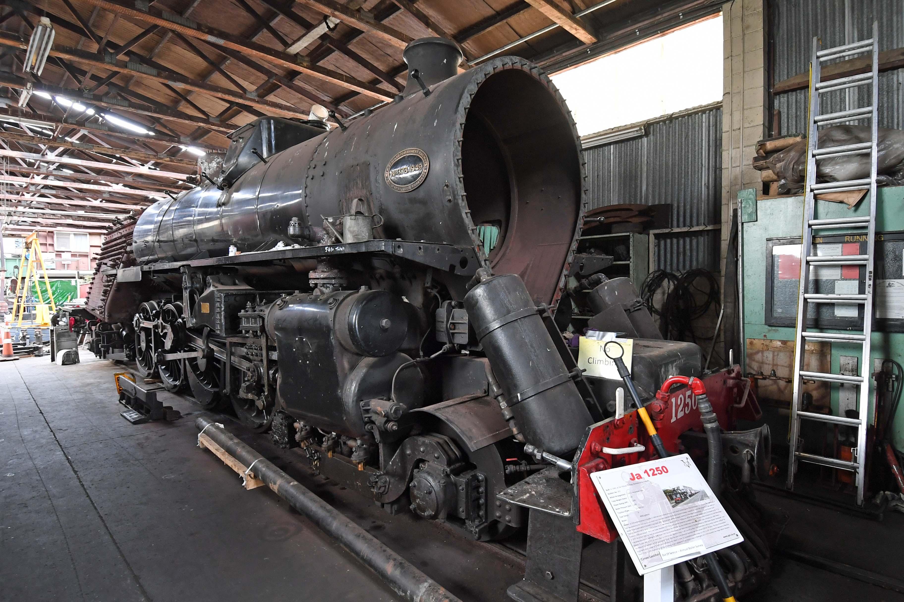 dg318301. ja 1250. pukeoware workshop. glenbrook vintage railway. north island. new zealand. 27.1.19crop