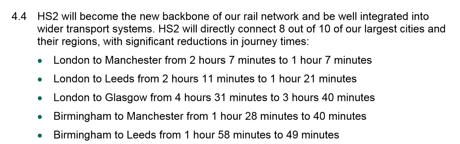 hs2 journey times,