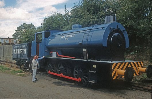 0001. Coal products No 6. 0-6-0. Rutland Railway Museum. 13.8.1989.+crop