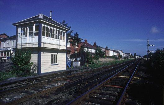 0065. Aughton Rd signalbox. Southport. 31.09.1989.+crop