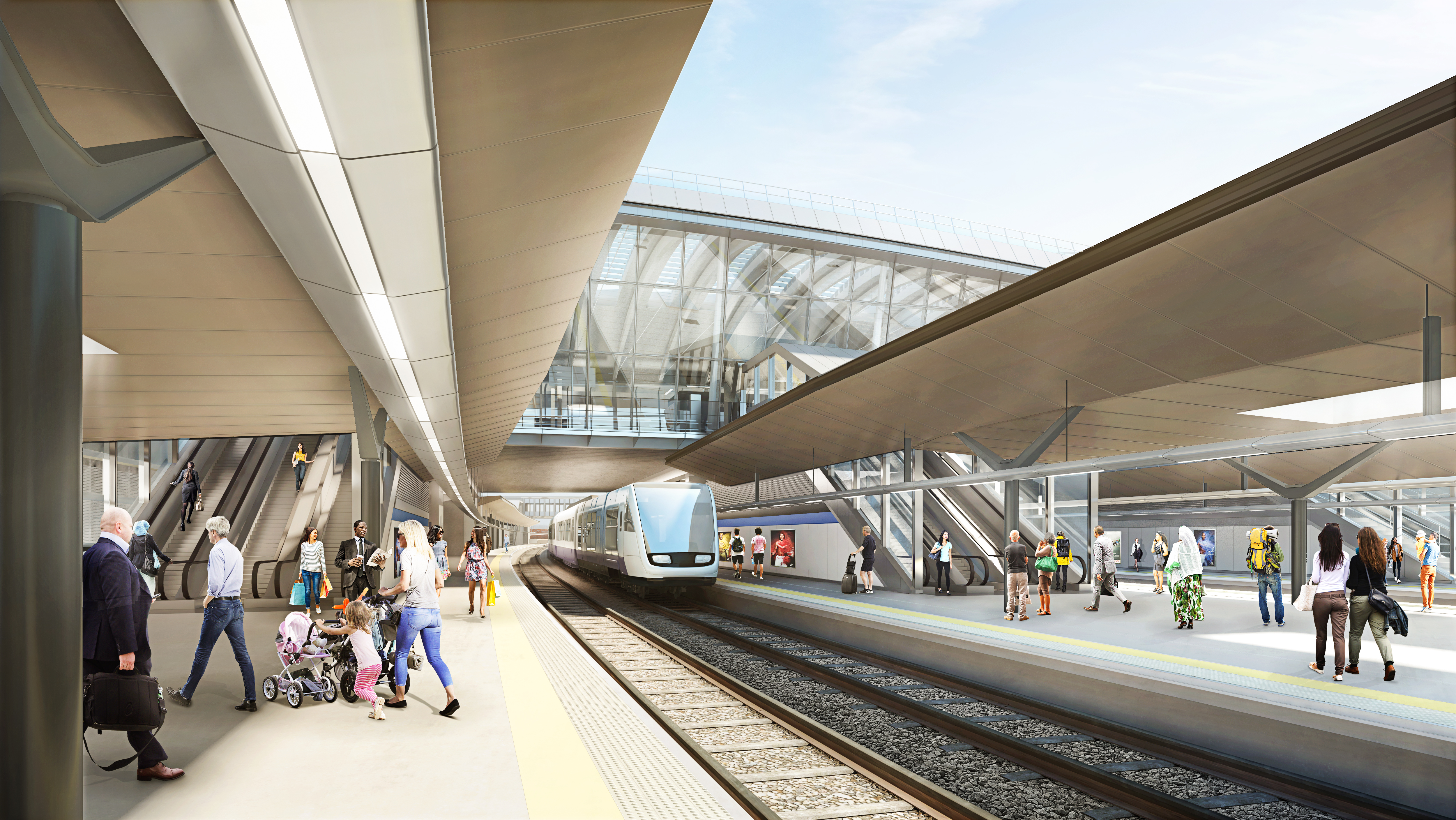HS2 OOC Conventional Rail Platforms View