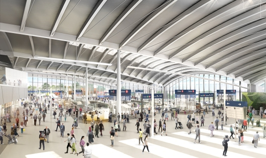 HS2 OOC Station Ground Floor Concourse View