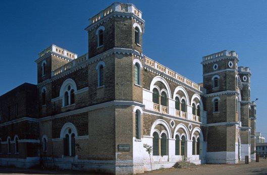 T9675. The Alfred High school. Alma Mater of Gandhi). Rajkot. Gujarat. India. 13.02.2000crop