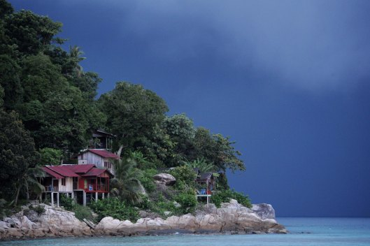 DG36861. Approaching storm. Coral Bay. Perhentian Islands. Malaysia. 8.10.09.crop