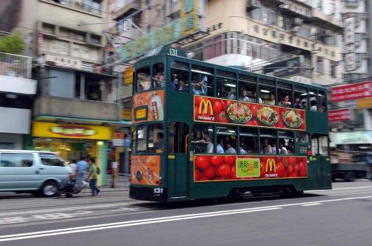 FDG1578. Tram 131. Wan Chai. Hong Kong. 4.11.04.crop