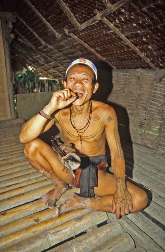 T3763. Medicine man. Siberut. Mentawai Islands. Indonesia. 1992.